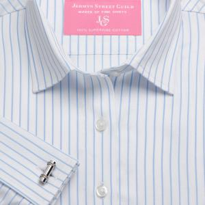 Sky Herringbone Stripe Women's Shirt Available in Six Styles
