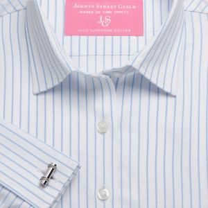Sky Herringbone Stripe Women's Shirt Available in Six Styles