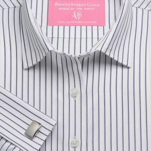 Navy Herringbone Stripe Women's Shirt Available in Six Styles