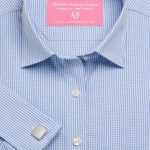 Sky Edinburgh Check Poplin Women's Shirt Available in Six Styles