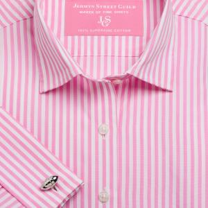 Pink Bengal Stripe Poplin Women's Shirt Available in Six Styles