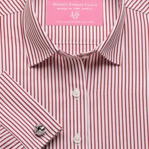 Red Knightsbridge Stripe Poplin Women's Shirt Available in Six Styles