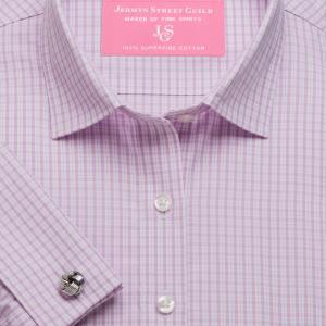 Pink Kensington Check Poplin Women's Shirt Available in Six Styles