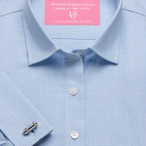 Sky Prince of Wales Check Twill Women's Shirt Available in Six Styles