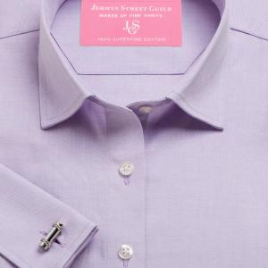 Lilac Plain Pinpoint Oxford Women's Shirt Available in Six Styles