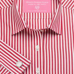Red Bengal Stripe Poplin Women's Shirt Available in Six Styles