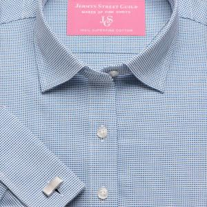 Navy Birdseye Dobby Women's Shirt Available in Six Styles