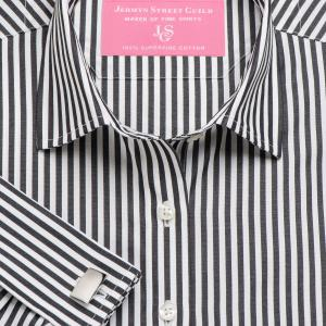 Black Bengal Stripe Poplin Women's Shirt Available in Six Styles