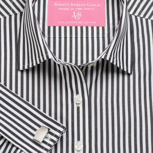 Black Bengal Stripe Poplin Women's Shirt Available in Six Styles