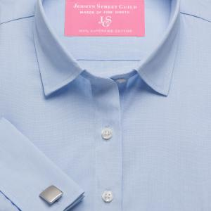 Sky End on End Poplin Women's Shirt Available in Six Styles