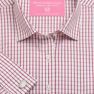 Red Piccadilly Check Poplin Women's Shirt Available in Six Styles