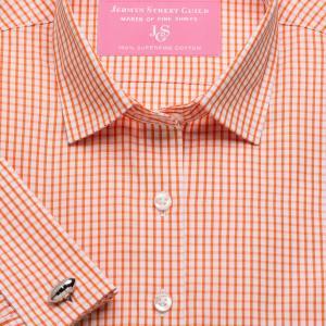 Orange Knightsbridge Check Poplin Women's Shirt Available in Six Styles