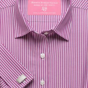 Magenta Mayfair Stripe Poplin Women's Shirt Available in Six Styles