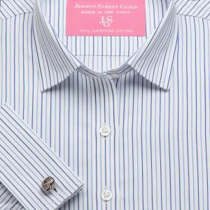Blue Marylebone Stripe Twill Women's Shirt Available in Six Styles