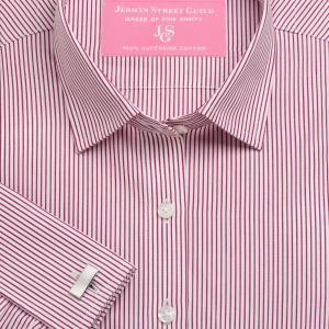 Red Edinburgh Stripe Poplin Women's Shirt Available in Six Styles