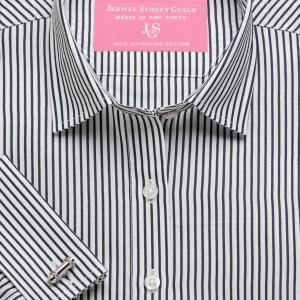 Black Knightsbridge Stripe Poplin Women's Shirt Available in Six Styles