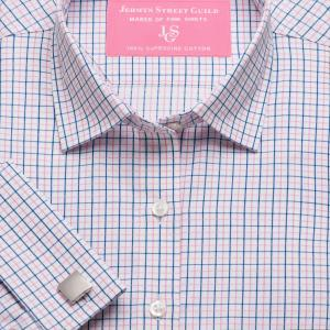 Pink Marylebone Check Twill Women's Shirt Available in Six Styles