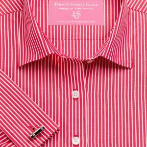 Red Mayfair Stripe Poplin Women's Shirt Available in Six Styles