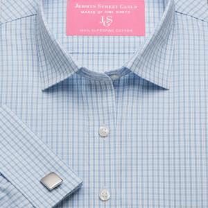 Sky Kensington Check Poplin Women's Shirt Available in Six Styles