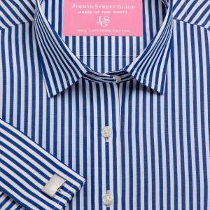 Navy Bengal Stripe Poplin Women's Shirt Available in Six Styles