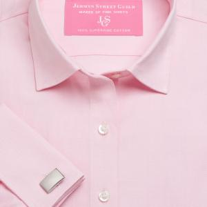 Pink Plain Pinpoint Oxford Women's Shirt Available in Six Styles
