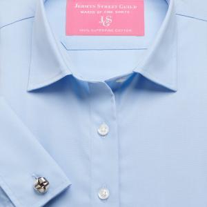 Sky Plain Poplin Women's Shirt Available in Six Styles