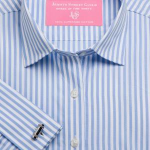 Sky Bengal Stripe Poplin Women's Shirt Available in Six Styles