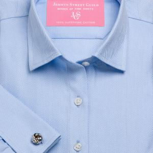 Sky Royal Herringbone Women's Shirt Available in Six Styles