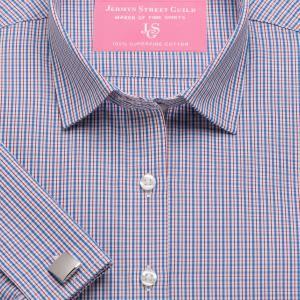 Red Trafalgar Check Poplin Women's Shirt Available in Six Styles