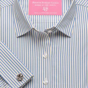Yellow Trafalgar Stripe Poplin Women's Shirt Available in Six Styles