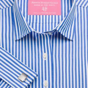 Blue Bengal Stripe Poplin Women's Shirt Available in Six Styles