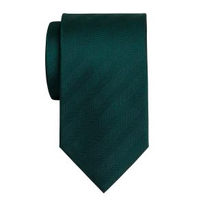 Green Plain Herringbone Tie