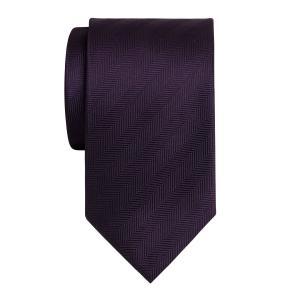 Plum Plain Herringbone Tie