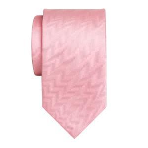 Pink Plain Herringbone Tie