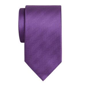 Lilac Plain Herringbone Tie