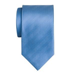 Sky Plain Herringbone Tie