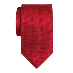 Red Plain Herringbone Tie