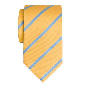 Sky on Gold Herringbone Stripe Tie
