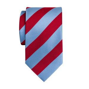 Sky & Red Barber Stripe Tie