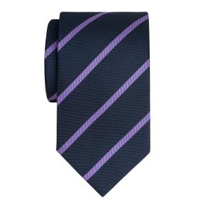 Lilac on Navy Herringbone Stripe Tie
