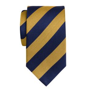 Navy & Gold Barber Stripe Tie