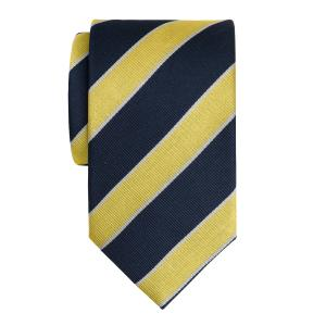 Navy & Gold Club Stripe Tie