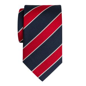 Navy & Red Club Stripe Tie