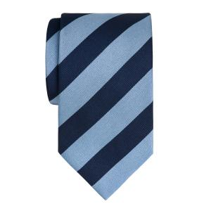 Sky & Navy Barber Stripe Tie