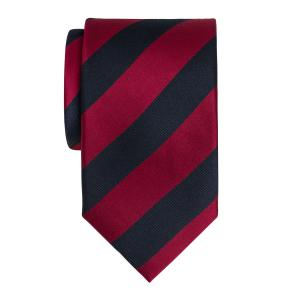 Navy & Burgundy Barber Stripe Tie
