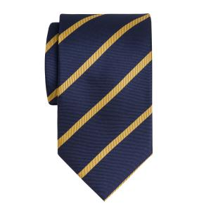 Gold on Navy Herringbone Stripe Tie