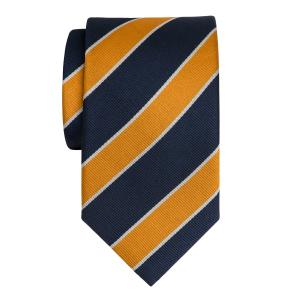Navy & Orange Club Stripe Tie