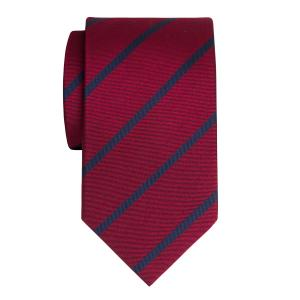 Navy on Burgundy Herringbone Stripe Tie