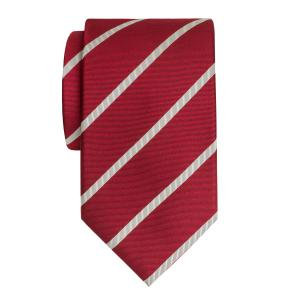 White on Burgundy Herringbone Stripe Tie