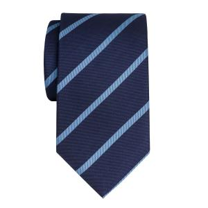 Sky on Navy Herringbone Stripe Tie